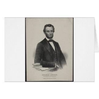 [Retrato de Wagner & de guincho de Lincoln.] c1860 Cartão Comemorativo