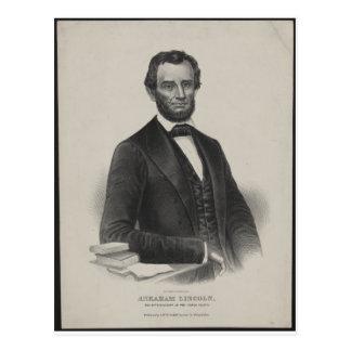 [Retrato de Wagner & de guincho de Lincoln.] c1860 Cartao Postal