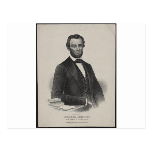 [Retrato de Wagner & de guincho de Lincoln.] c1860 Cartoes Postais