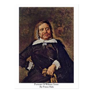 Retrato de Willem Croes. Por Frans Hals Cartoes Postais