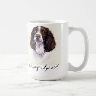 Retrato do cão do Spaniel de Springer na caneca do