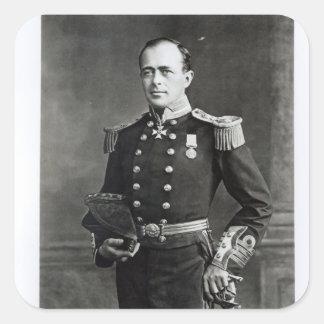 Retrato do capitão Robert Falcão Scott Adesivo Quadrado