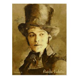 Retrato do cartão da arte de Rudolph Valentino