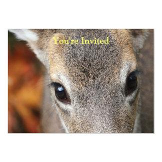 Retrato do close up da jovem corça dos cervos convite 12.7 x 17.78cm