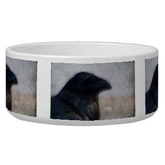 Retrato do corvo tijelas para água para cachorros