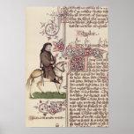 Retrato do fac-símile de Geoffrey Chaucer de Impressão