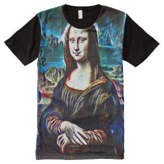 Retrato do fantasma de Mona Lisa Camisetas Com Impressão Frontal Completa