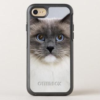 Retrato do gato de Ragdoll Capa Para iPhone 8/7 OtterBox Symmetry