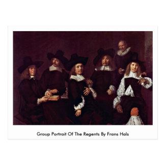 Retrato do grupo dos regentes por Frans Hals Cartão Postal