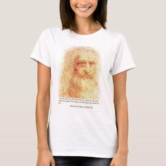 retrato do lenoardo camiseta