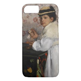 Retrato do Mlle Hortense Valpincon por Edgar Degas Capa iPhone 7