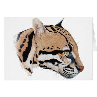 Retrato do Ocelot Cartão Comemorativo