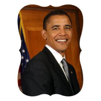 Retrato do oficial de Barack Obama Convites Personalizados