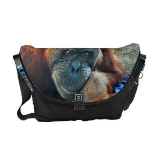 Retrato do orangotango bolsas mensageiro