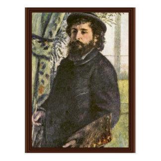 Retrato do pintor Claude Monet por Pierre Cartao Postal