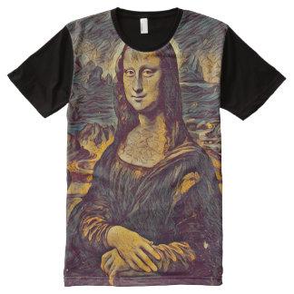 Retrato do ponto de entrada de Mona Lisa Camisetas Com Impressão Frontal Completa
