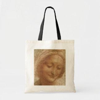 Retrato do santo Anne por Leonardo da Vinci Sacola Tote Budget