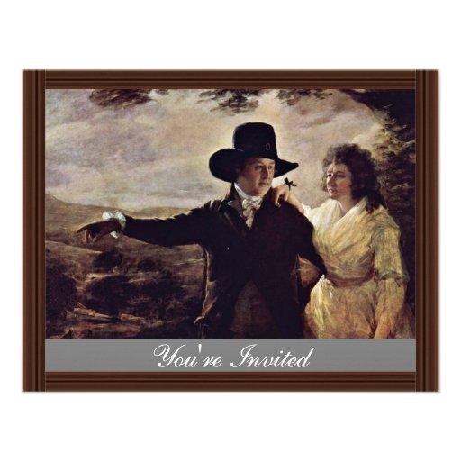 Retrato do senhor John e da senhora Caixeiro senho Convites Personalizados