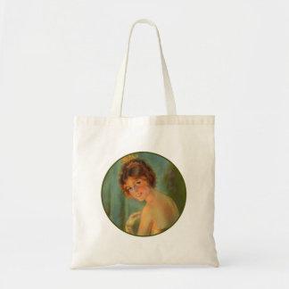 Retrato do Victorian da forma da mulher das Sacola Tote Budget