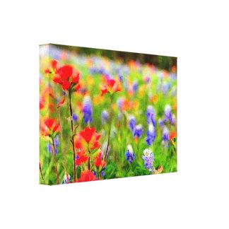 Retrato do Wildflower em canvas