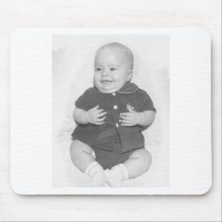 retrato dos anos 50 do bebé mouse pad