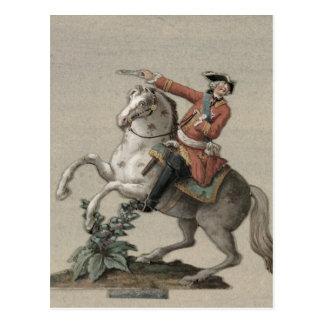 Retrato equestre do príncipe Charles Cartão Postal