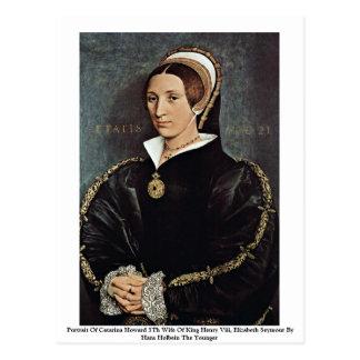 Retrato esposa de Catarina Howard da 5a do rei Cartão Postal