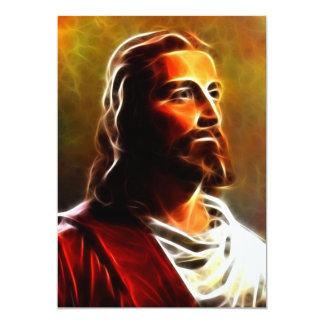 Retrato excitante do Jesus Cristo Convites Personalizados