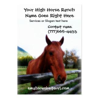 Retrato fotográfico do cavalo de Brown Cartão De Visita Grande