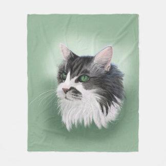 Retrato geral do gato do velo cobertor de lã