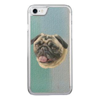 Retrato gordo do Pug Capa iPhone 8/ 7 Carved