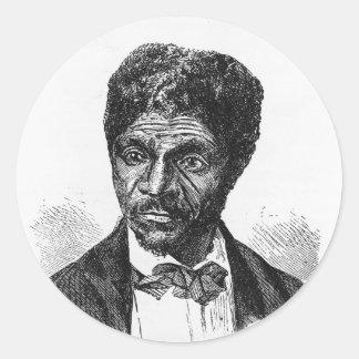Retrato gravado do afro-americano Dred Scott Adesivo Em Formato Redondo