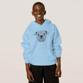 Retrato ilustrado do filhote de cachorro inglês do