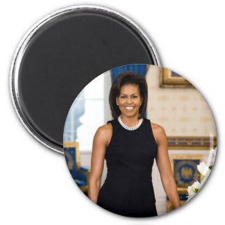 Retrato oficial da primeira senhora Michelle Obama Imã