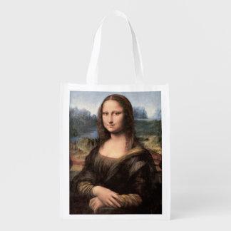 Retrato/pintura de Mona Lisa Sacolas Reusáveis