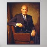 Retrato presidencial de Dwight D. Eisenhower Posteres