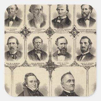 Retratos dos cidadãos do Condado de Scott Adesivos Quadrados