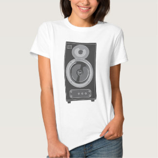 Retro audio/vintage da música estereofónica do ~ t-shirt