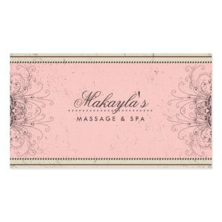 Retro elegante moderno elegante do damasco floral  modelo cartão de visita