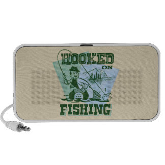 Retro enganchado na pesca caixinhas de som de viagem