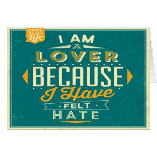 Retro eu sou um cartão tipográfico do amante