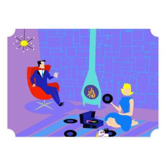 Retro nivelando em casa convites de festas convite 12.7 x 17.78cm