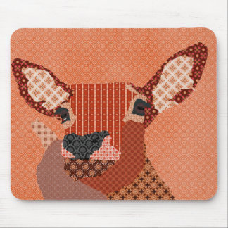 Retro Reindeer Orange Mousepad