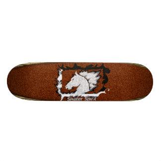 -Retro Skate com modelo de madeira+Bordéus cor