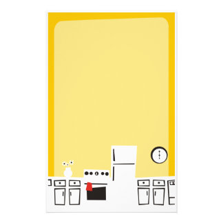 Retro white kitchen cooking baking stationery
