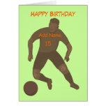 Retroceda que o cartão de aniversário da bola adic