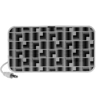 Retrotile cinzas caixinhas de som para iPhone