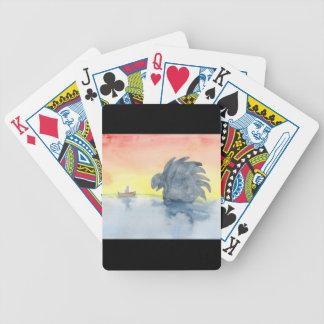 Reunião curiosa cartas de baralhos