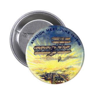 Reunião da aviação - botão bóton redondo 5.08cm