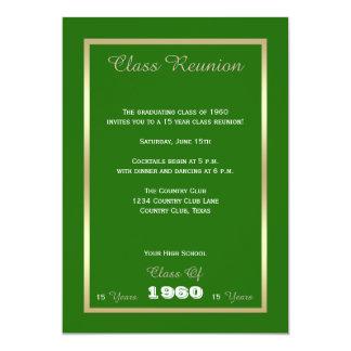 Reunião de classe algum verde do ano convite 12.7 x 17.78cm
